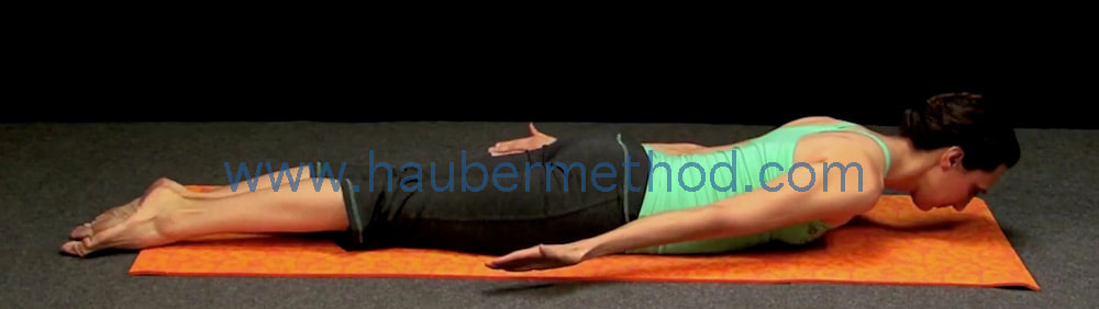 Modified shalabasana for back pain Sara hauber